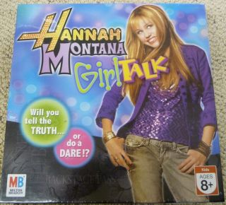 2007 HANNAH MONTANA Miley Cyrus GIRL TALK BOARD GAME NEW SEALED NIB