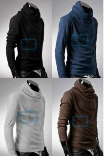 High Quality Mens Rotary Heap Collar Knitting Sweater Size XS s M L 6