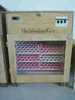 The wooden hen incubator 288 EGG INCUBATOR (like GQF) with auto turner