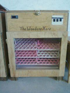 The wooden hen incubator 288 EGG INCUBATOR (like GQF) with auto turner