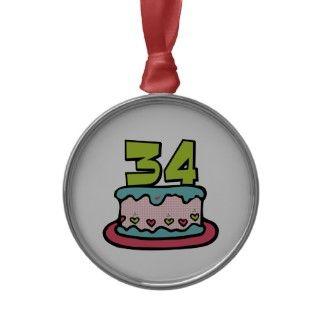 Torta de cumpleaños de 34 años adorno de reyes de