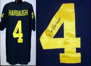 Jim Harbaugh Signed Autographed University of Michigan Jersey AAA Cert