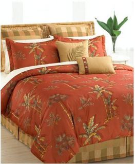 Hallmart Island Beach House Spice Spiced Palm Tree Tropical Bed in A