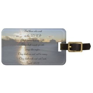 Isaiah 40:31wings like eaglesluggage tag