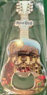 Hard Rock Cafe CARTAGENA 2011 GUITAR MAGNET Bottle Opener CITY TEE