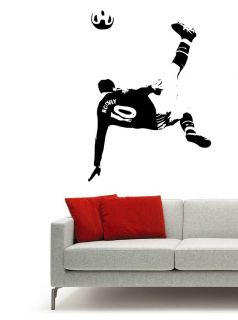 Wayne Rooney Football Wall sticker decal art, Over Head Kick