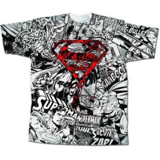 Superman Graffiti Logo DC Comics Superhero Comic Book Adult T Shirt