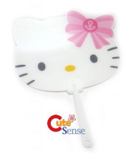 Sanrio Hello Kitty Face Hand Fan PP Fan with Pink Bow
