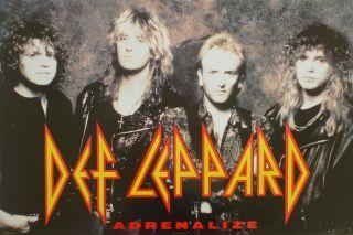 Adrenalize U s Promo Album Poster Hard Rock Heavy Metal Music