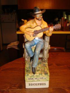 Hank Williams Jr bocephus Musical Whiskey Decanter