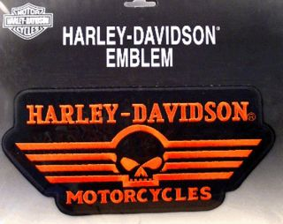 Harley Davidson RARE Linear Skull Patch XXL 10 Inch