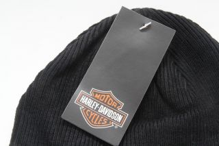 harley davidson black knit skull cap beanie hat this officially
