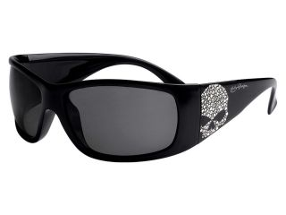 Harley Davidson Sunglasses Womens Bling Skull Smoke Lense Performance