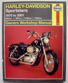 Harley Davidson Sportsters 1970 2001 Owners Workshop Manual Haynes 702
