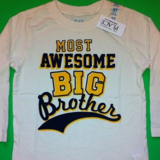 New Most Awesome Big Broer Baby Boys Graphic Shirt 3T 4T Christmas