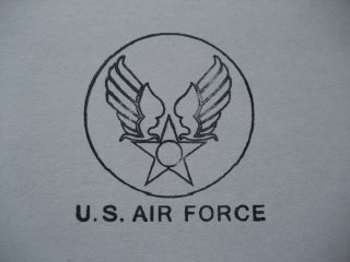 1950s US AIR FORCE HAP ARNOLD WINGED STAR EQUIPMENT RUBBER STAMP