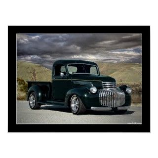 1941 Chevy Hot Rod Pick Up Truck Poster