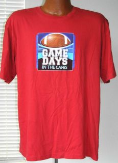 Microsoft 2012 Games Days in The Cafe Mens Red Tee T Shirt Size L
