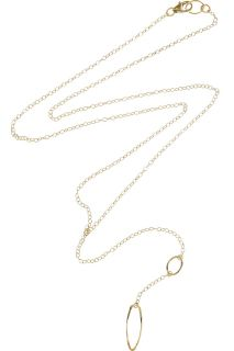 Nancy Caten 18 karat gold filled chain link necklace