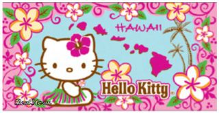 Hawaiian Island Hawaii Pink Flower Hello Kitty Beach Towel Bath Huge