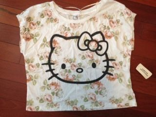 Brand New Hello Kitty Floral Shirt Forever 21 Small S