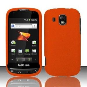 Rubberized Orange Hard Protector Case Phone Cover for Samsung