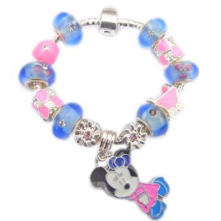 Childrens Kids Charm Bracelets Complete 13 Charms Hello Kitty Minnie