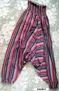 Billowing Harem Pants Inspired by Heidi Klum Project Runway Magenta