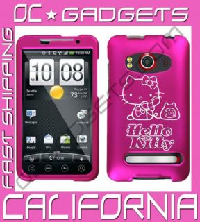 Hello Kitty Phone Pink Case Cover Sprint HTC EVO 4G