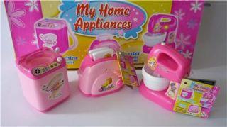 Girls Kids Toy Pink Toaster Food Mixer Washing Machine Lights & Sound