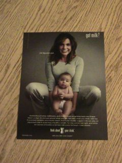 Got Milk Advertisement Mariska Hargitay Ad Woman Baby