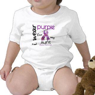 Lupus I WEAR PURPLE FOR MY AUNT 43 T shirt