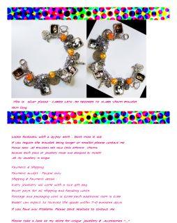 JARED LETO ** 30 SECONDS TO MARS** Charm Bracelet