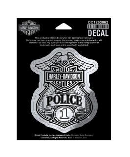 harley davidson police decal