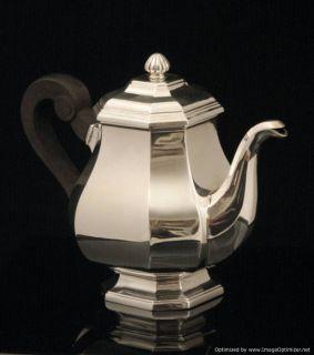 Henin Freres French Art Deco Sterling Silver Tea Coffee Set Sterling