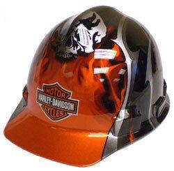 Harley Davidson HDHHAT30 RARE Skull Flames Hard Hat