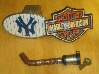 Harley Davidson NY Yankee Hitch Plug Cover Lock