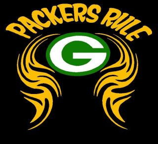 Green Bay Packers Tribal Packers Rule Accent Vinyl Decal Sticker