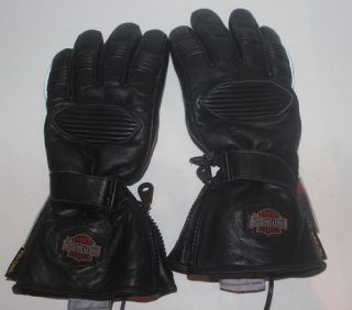 Harley Davidson Kevlar Heated Leather Insulated Motorcycle Gloves XS