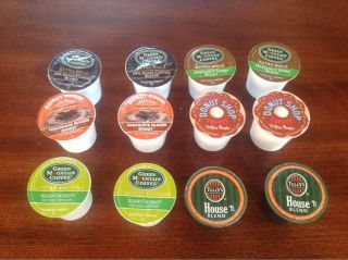 12 K Cups Keurig Coffee Mix Lot Donut House Green Mountain Coffee