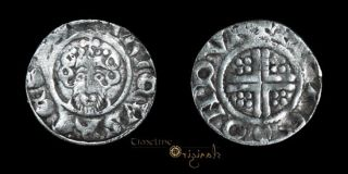 Scarce Henry III Durham Peres Silver Hammered Short Cross Penny Coin