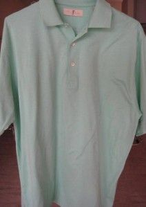 Mens Harry Vardon Teal Blue Polo Golf Shirt Size Large New w Out Tags