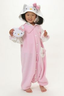 Hello Kitty Kids 110cm Fleece KIGURUMI Costume Pajamas Uni
