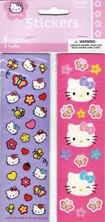 Sticker Strips Hello Kitty Party Supplies Favors Pink Purple