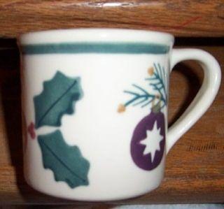 Hartstone Pottery USA Large Christmas Ornaments Cup Mug