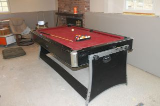 Harvard Pool Table & Air Hockey Table 2 in 1 Game Combo