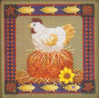 Henrietta Harvest ~ buttons and beads counted cross stitch kit