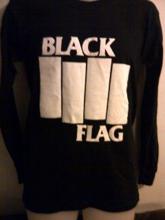 Black Flag Bars Long Sleeved Shirt Henry Rollins Band Minor Threat
