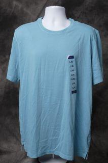 New Hathaway Mens Short Sleeve Pima Cotton Crew Neck T Shirt Blue Size