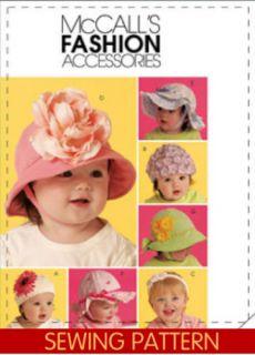 Baby Toddler Hat Bonnet Headband Sewing Pattern